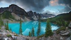 Moraine Lake, Alberta Canada 5.40am